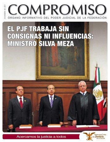 EL PJF TRABAJA SIN CONSIGNAS NI INFLUENCIAS: MINISTRO ...