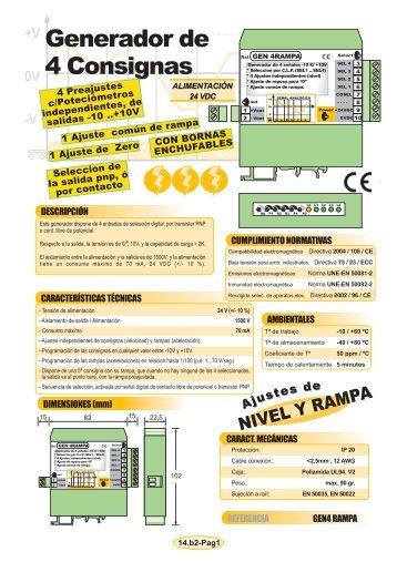 14b2- Generador de 4+1 señales -10 - +10V (Consignas y ... - Krenel