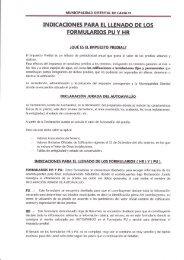 Indicaciones para el llenado de los Formularios PU - muni cayalti