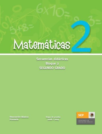 Secuencias Didácticas Matemáticas Segundo Grado Bloque 2