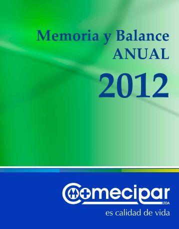 Descargar Memoria y Balance 2012. - COOMECIPAR Ltda.