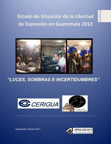 Estado de Situación de la Libertad de Expresión en Guatemala 2012
