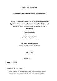 TITULO: propuesta de mejora de la gestión de ... - Cybertesis