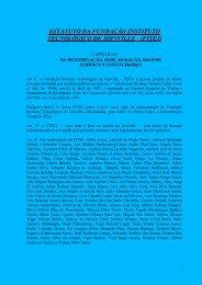 Estatuto - Fundação Instituto Tecnológico de Joinville