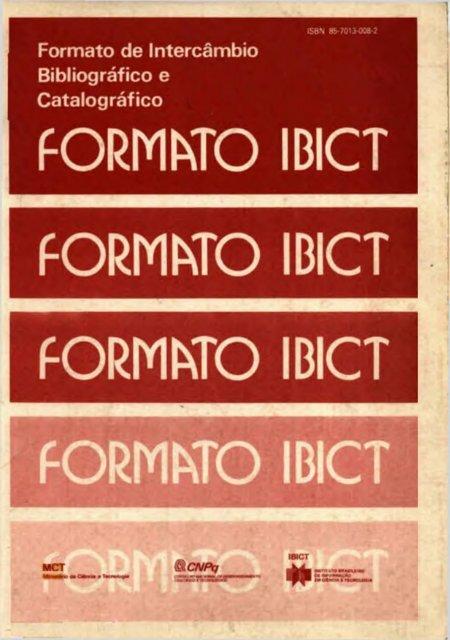 Formato de intercâmbio bibliográfico e catalográfico.pdf - Ibict