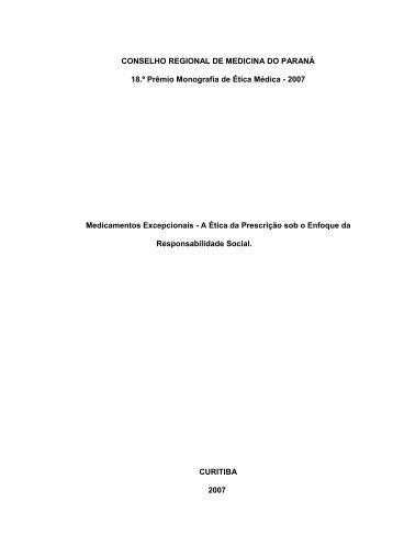 TÍTULO CENTRADO - Conselho Regional de Medicina do Paraná