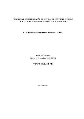 Manual Execucao Promoex