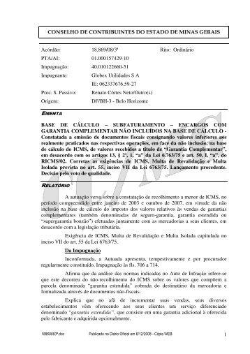 Microsoft Word - 18869083\252.doc - Secretaria de Estado de ...