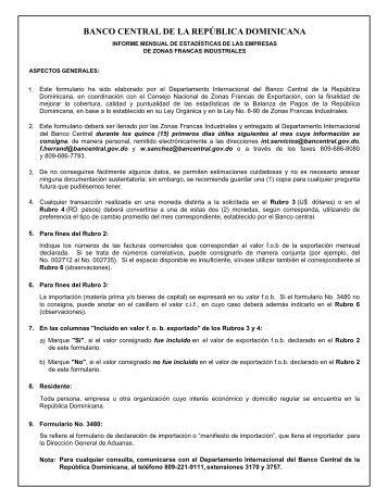Informe Mensual Estadísticas Empresas Zonas Francas Industriales ...