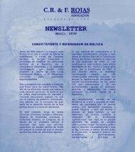 CONSTITUYENTE Y REFERENDUM EN BOLIVIA - CR & F. Rojas