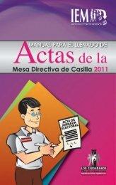 Manual par al Llenado de Actas - IEM