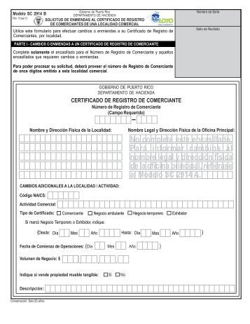 Modelo SC 2914 B - Departamento de Hacienda - Gobierno de ...