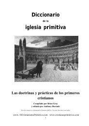 Diccionario de la iglesia primitiva - El Cristianismo Primitivo