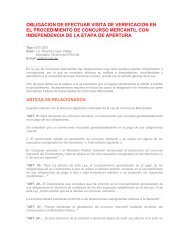 obligacion de efectuar visita de verificacion en el procedimiento de ...