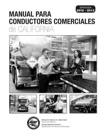Manual para Conductores Comerciales de California (2009) - DMV