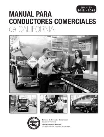 Manual para Conductores Comerciales de California (2009) - DMV
