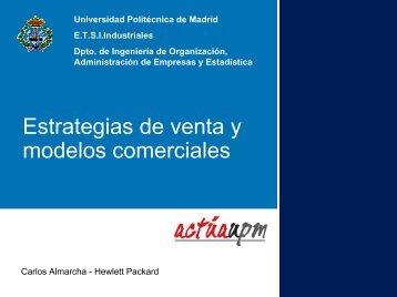 Estrategias de venta y modelos comerciales - Departamento de ...