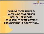 cambios doctrinales en materia de competencia desleal, practicas ...