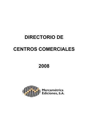 DIRECTORIO DE CENTROS COMERCIALES 2008 - Ibcon