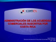 Administración de los acuerdos comerciales suscritos por Costa Rica