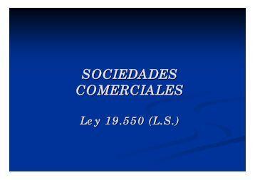 SOCIEDADES COMERCIALES - Cursos Allende