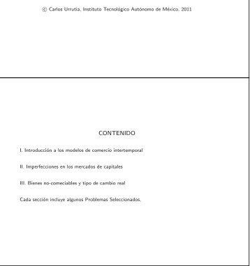 CURSO DE MACROECONOMIA ABIERTA MODELOS ... - ITAM