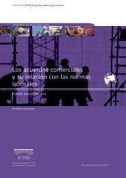 Los acuerdos comerciales y su relacion con las normas ... - ictsd