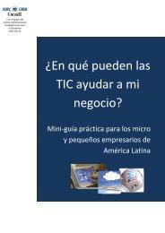 ¿En qué pueden las TIC ayudar a mi negocio? – Mini ... - OIT/Cinterfor