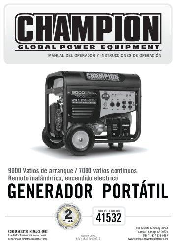 GENERADOR PORTÁTIL - Champion Power Equipment