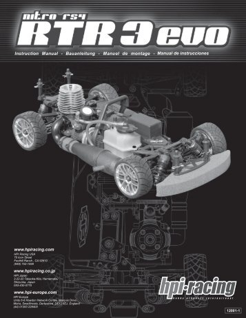 Manual de instrucciones - HPI Racing