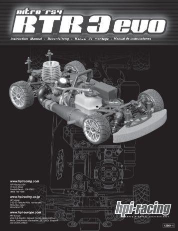 Manual de instrucciones - HPI Racing