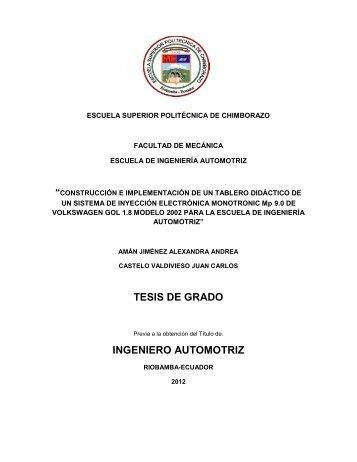 TESIS DE GRADO INGENIERO AUTOMOTRIZ - DSpace ESPOCH