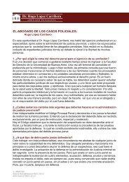 el abogado de los casos policiales - Dr. Hugo Lopez Carribero