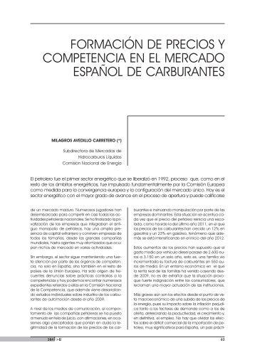 formación de precios y competencia en el mercado español