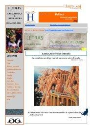 Letras, Tu Revista Literaria - Ediciones Alvaeno