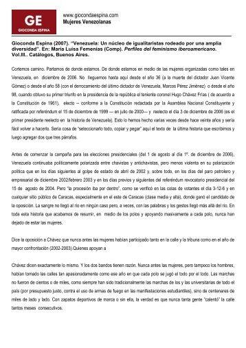 www.giocondaespina.com Mujeres Venezolanas
