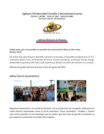 Informe Completo - Iglesia Pentecostal Unida de Colombia