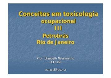 Toxic ocupacional III - Sindipetro Caxias