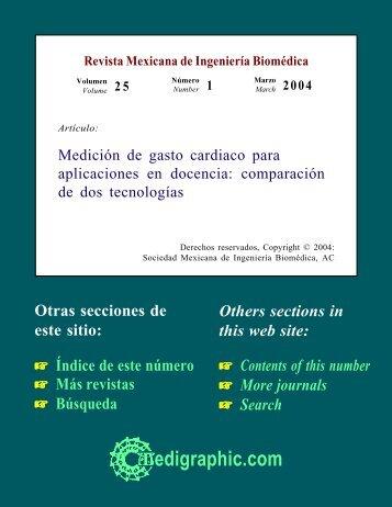 Medición de gasto cardiaco para aplicaciones en ... - edigraphic.com