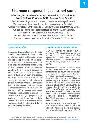 Síndrome de apneas-hipopneas del sueño - Asociación Española ...