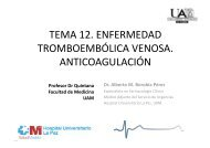 TEMA 12. ENFERMEDAD TROMBOEMBÓLICA VENOSA ... - FUAM