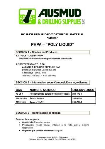 Descargar hoja de seguridad de Poly Liquid