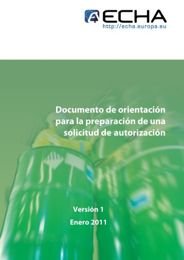 Guidance on the preparation of an application for ... - ECHA - Europa