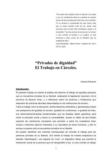 Trabajo Correccional - Revista Pensamiento Penal