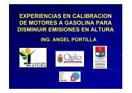 EXPERIENCIAS EN CALIBRACION DE MOTORES A ... - Swisscontact