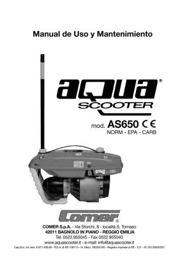 Manual de Uso y Mantenimiento - Aquascooter