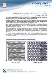 bandas metálicas para alta temperatura