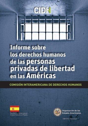 informe sobre personas privadas de libertad en las - Organization of ...