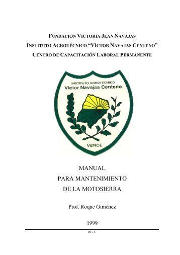 MANUAL PARA MANTENIMIENTO DE LA MOTOSIERRA - FEDIAP