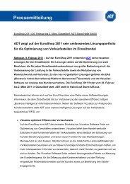 ADT zeigt auf der EuroShop 2011 sein umfassendes ...